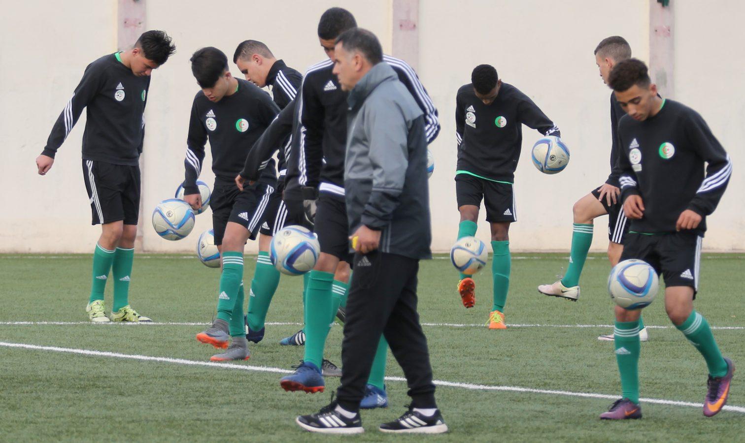 coach boudjella u17 entrainement stage jeune