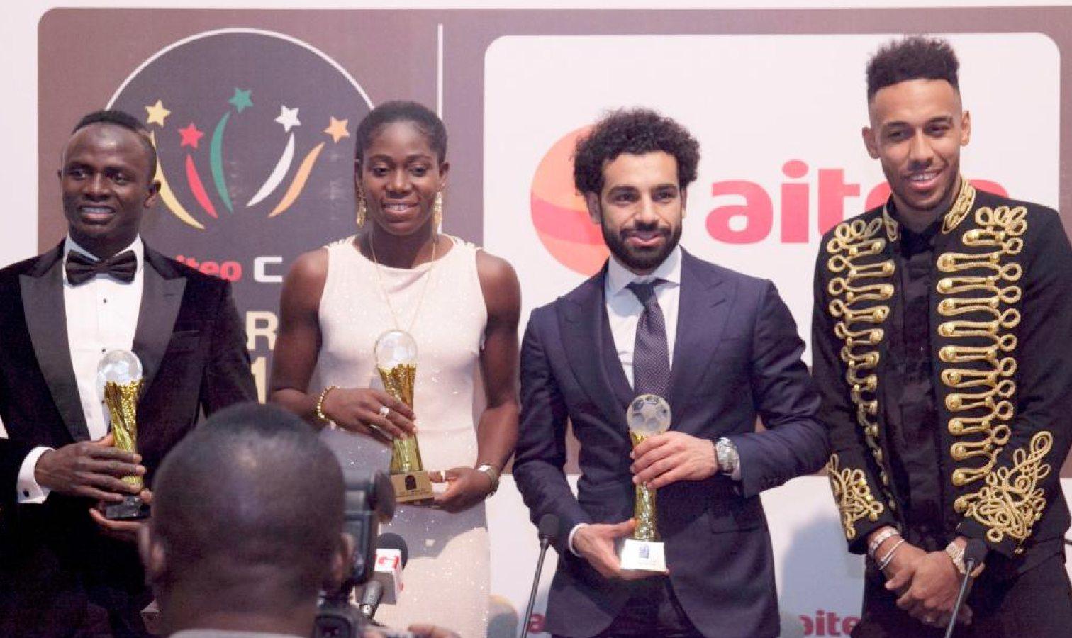 sadio mane aubameyang salah caf 2017 awards