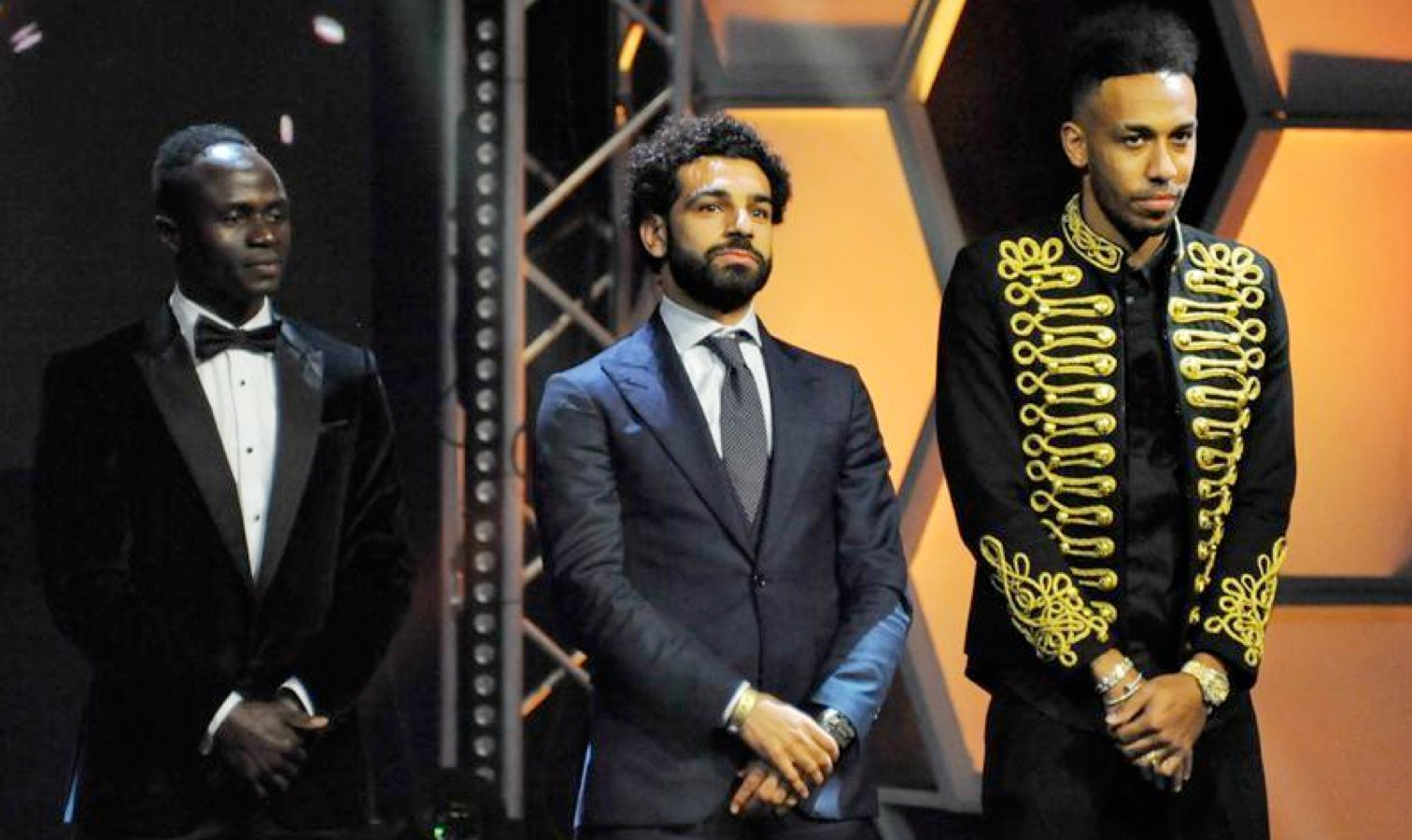 trio sadio mane aubameyang salah caf 2017 awards