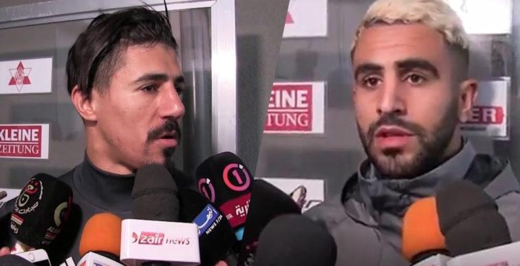 Déclarations de Mahrez & Bounedjah avant le match de l'Iran
