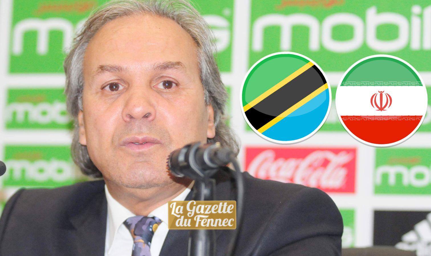 La liste contre la Tanzanie et l'Iran — Algérie