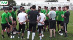 U20 : les Verts sont arrivés à Accra pour disputer le match retour