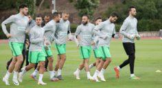 EN : entrainement des Verts à Lisbonne