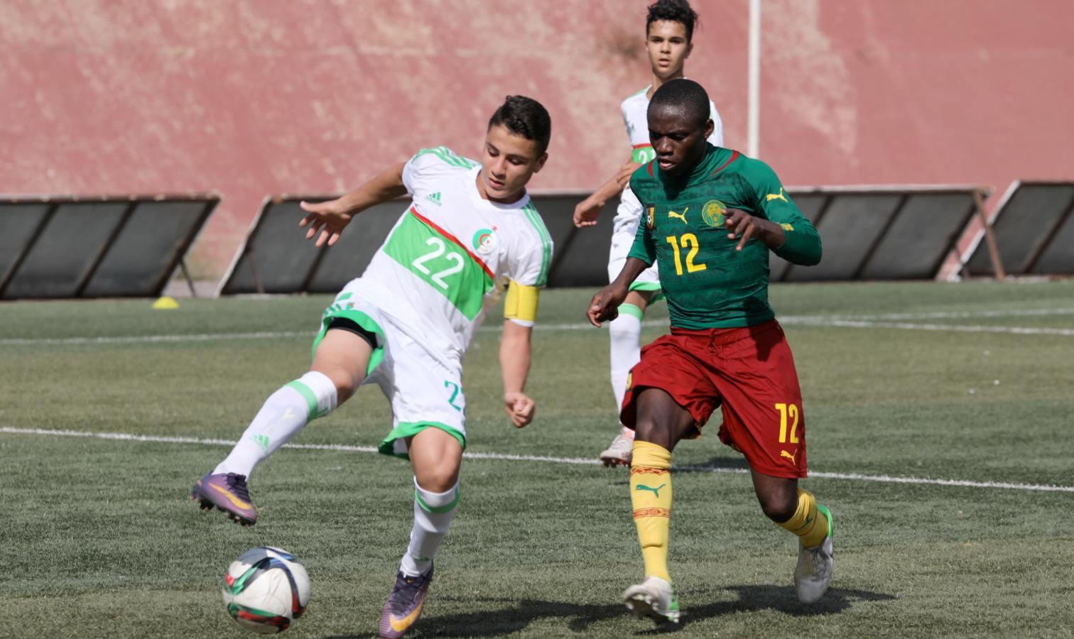 U15 algerie cameroun defaite jaj