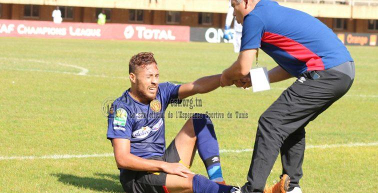 ES Tunis : luxation de l'épaule pour Belaïli