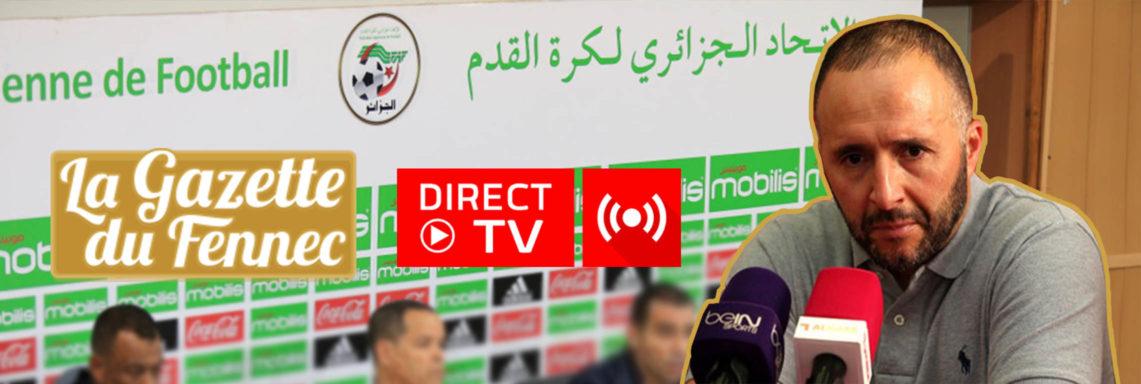 EN DIRECT : Conférence de Djamel Belmadi à Sidi Moussa