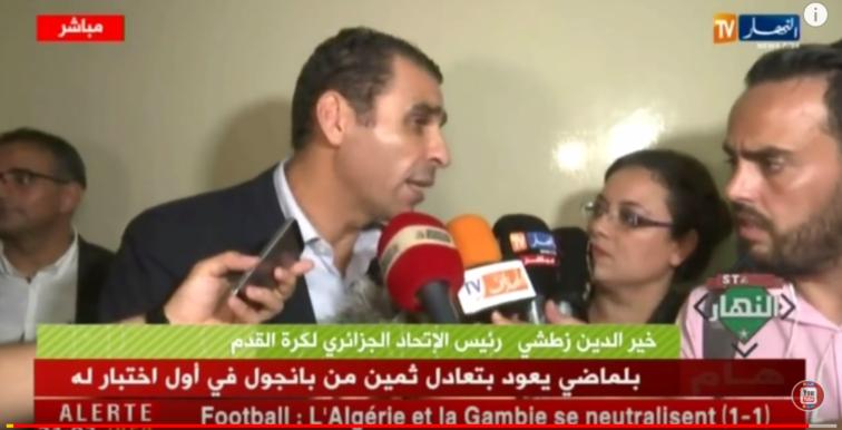 Zetchi : «Il faut soutenir Belmadi et cette EN»