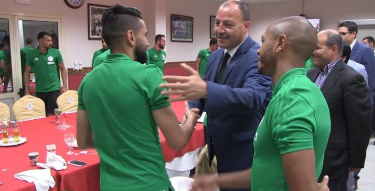 EN : le Ministre des Sports rend visite aux Verts