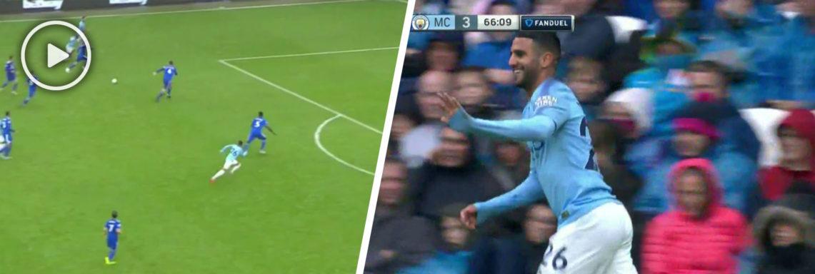 Doublé de Riyad Mahrez avec Manchester City vs Cardiff