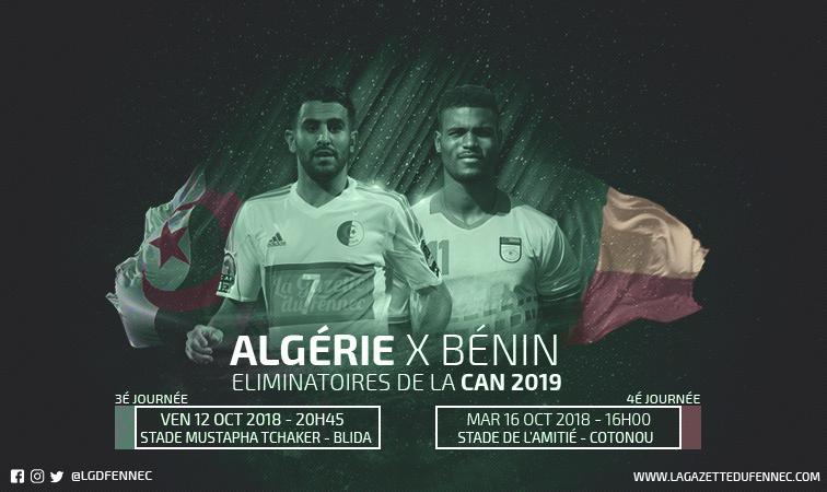 Les changements de Djamel Belmadi face au Bénin — Algérie