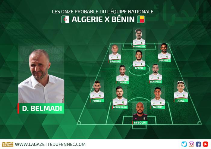 Le 11 probable de Belmadi face au Bénin :