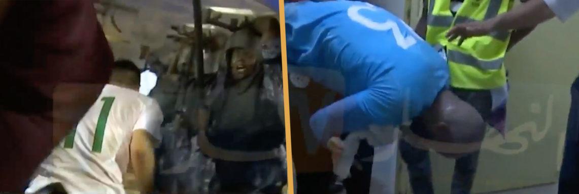 L'équipe d'Algérie s'est fait caillasser à la sortie du stade