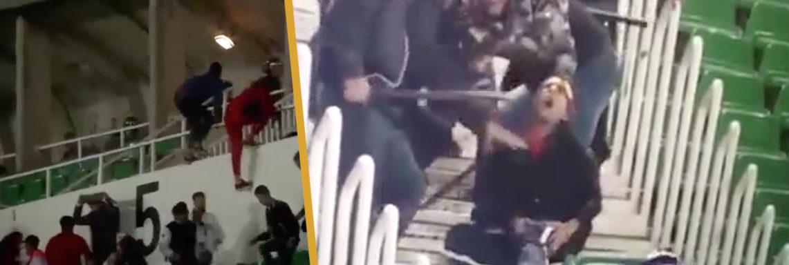 Extrême violence d'un supporter tabassé par un policier !