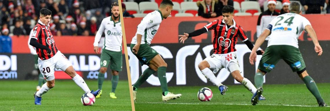 OGC Nice : Très belle prestation de Atal face à Saint-Etienne
