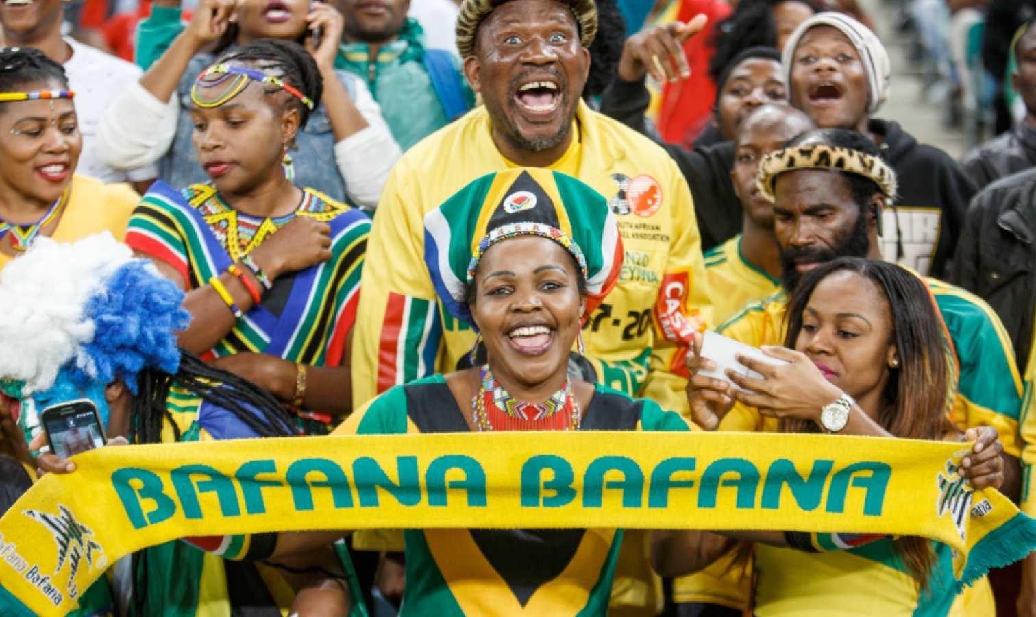 bafana bafana supporters afrique du sud
