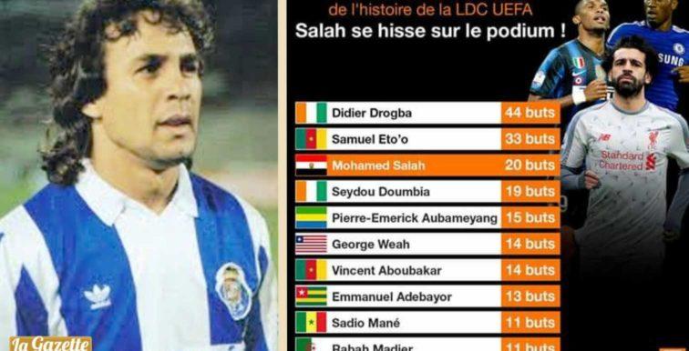LDC UEFA : Madjer toujours dans le Top 10 des buteurs africains