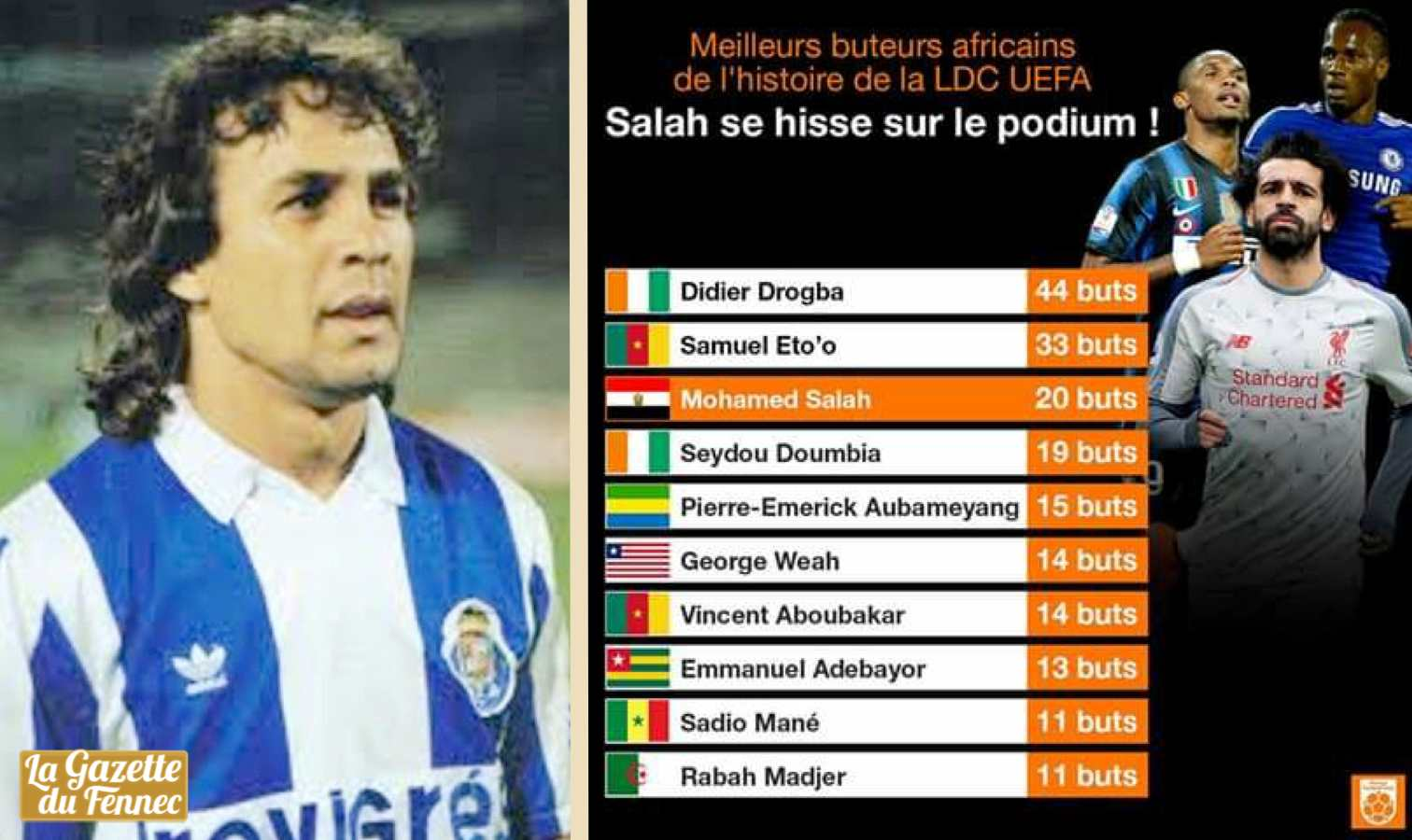 madjer top 10 africains