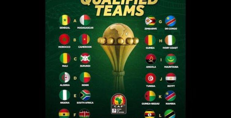 CAN 2019 – Tirage au sort : les pots selon le classement de la CAF