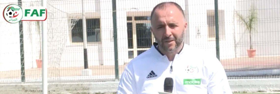 Interview de Belmadi sur FAF TV avant d'affronter la Tunisie