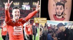 Un supporter du Stade Rennais se fait tatouer Bensebaïni sur le mollet !