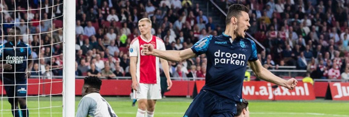 Darfalou buteur face à l'Ajax Amsterdam