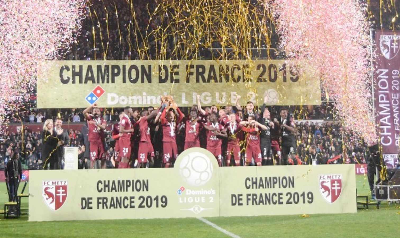 fc metz grenats montee champion france ligue 2
