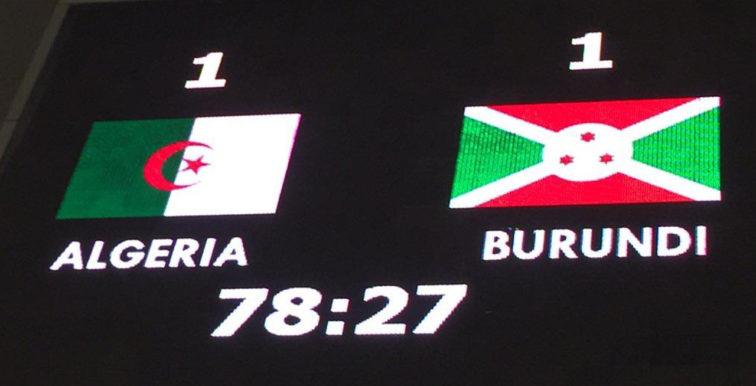 Algérie 1 – Burundi 1 : Les Verts accrochés