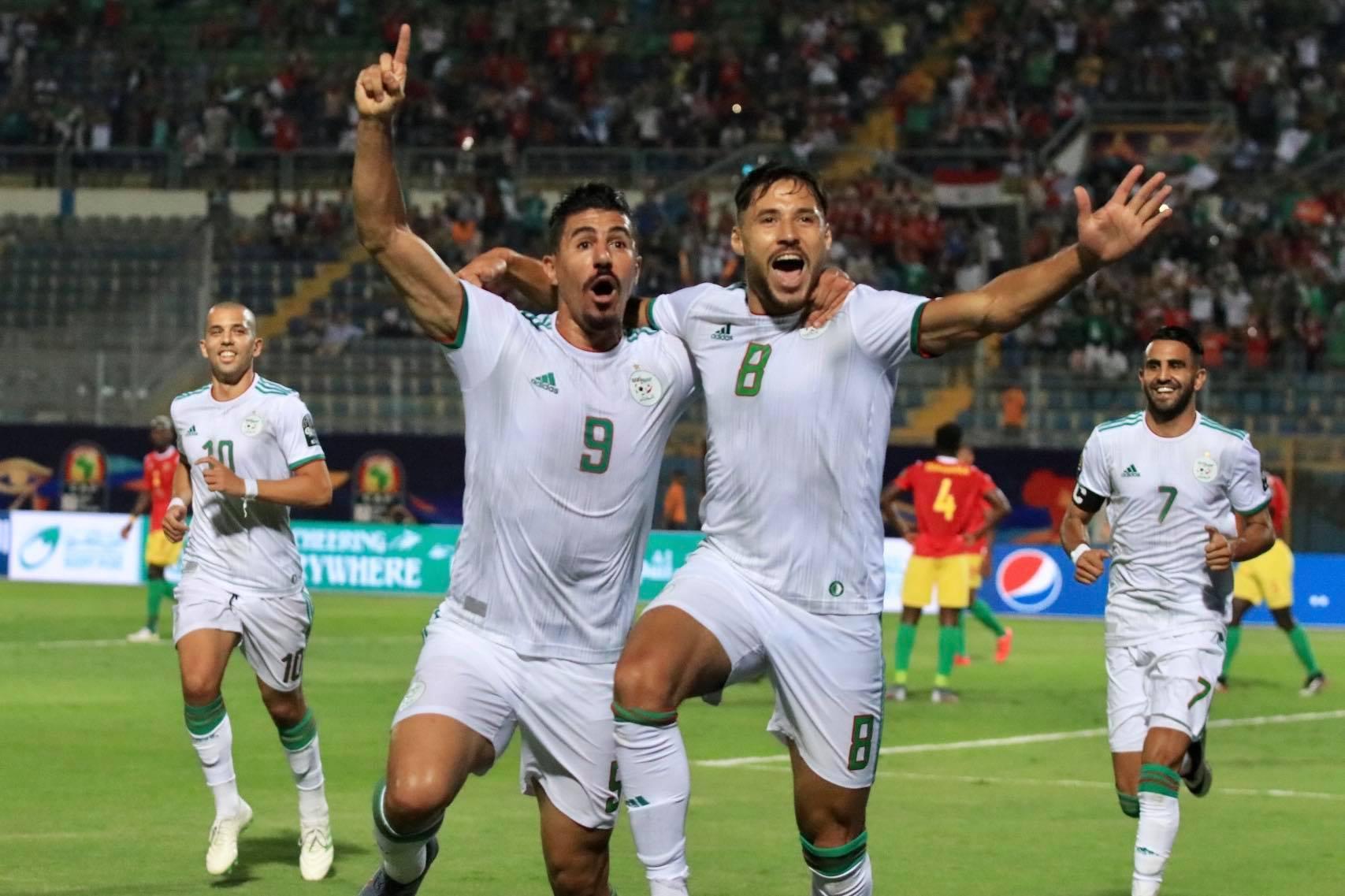 belaili joie bounedjah wah algerie guinee 3-0 can 2019