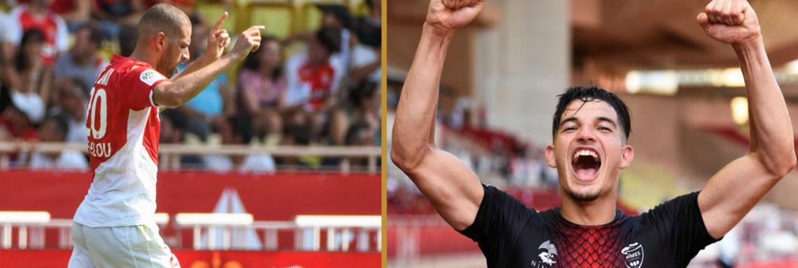 Monaco-Nîmes (2-2) : Slimani buteur, Ferhat double passeur