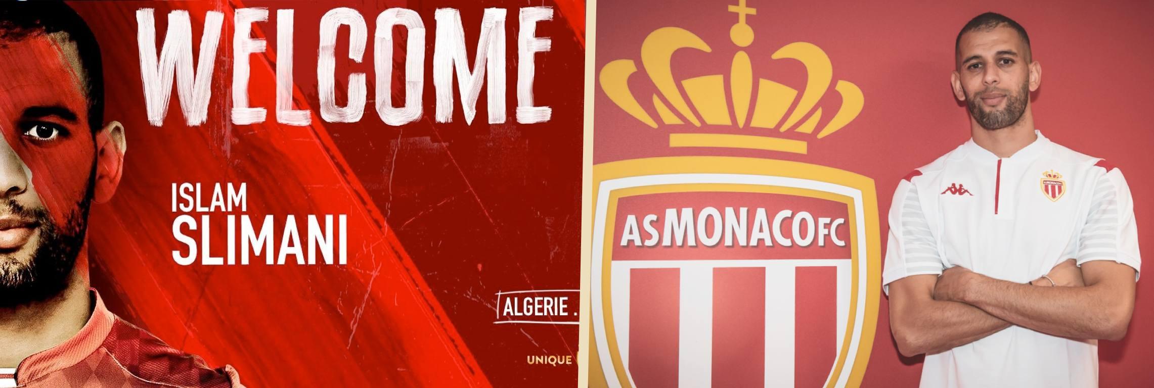 """Slimani : """"Je suis très heureux de m'engager avec l'AS Monaco"""""""