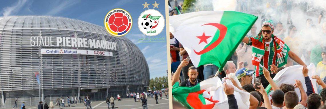 Colombie-Algérie à Lille : les billets à partir de 20€