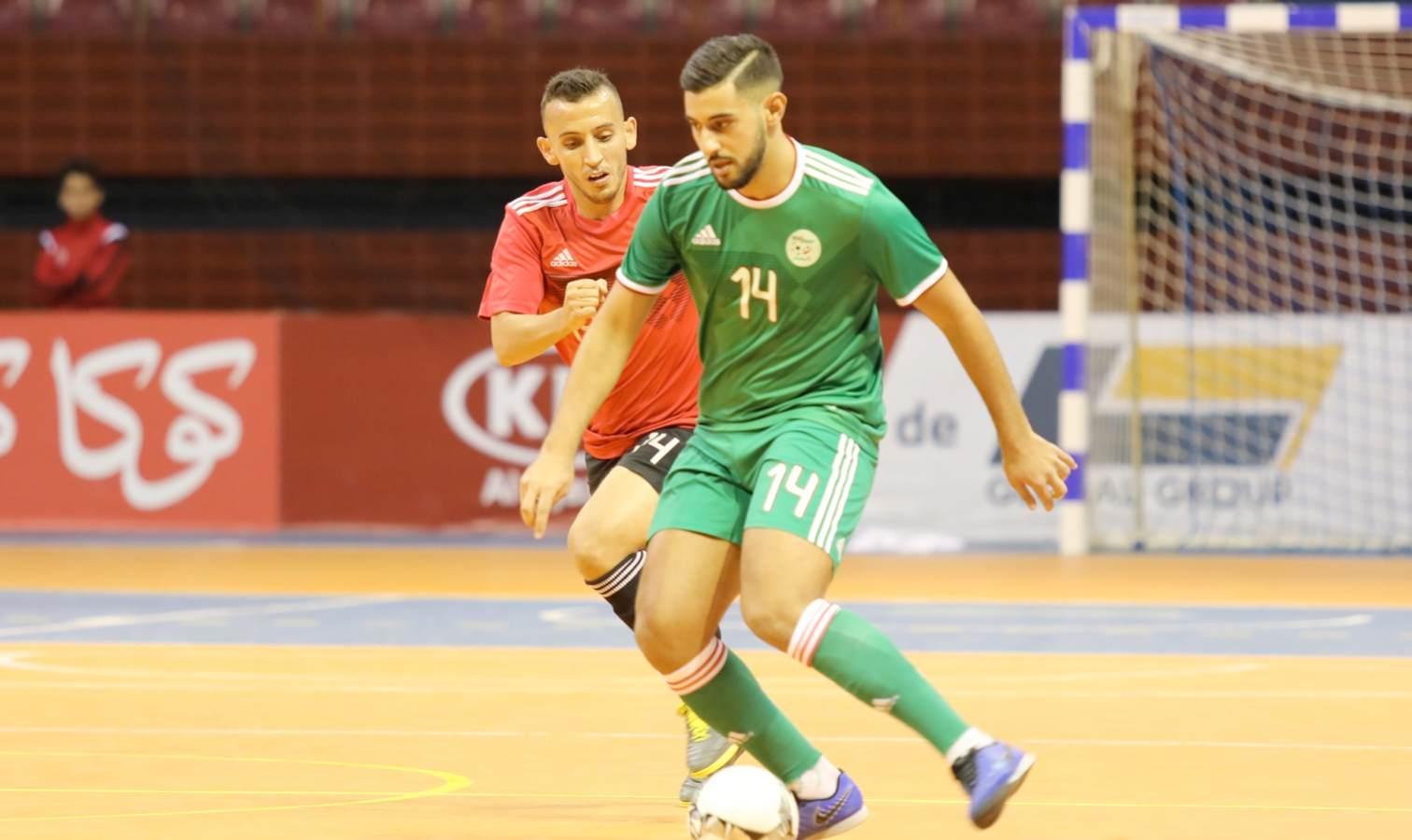 futsal algerie lybie entree harcha capitaine