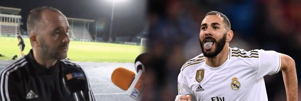 """Belmadi répond à la polémique Benzema: """"Je suis content de mes attaquants !"""""""