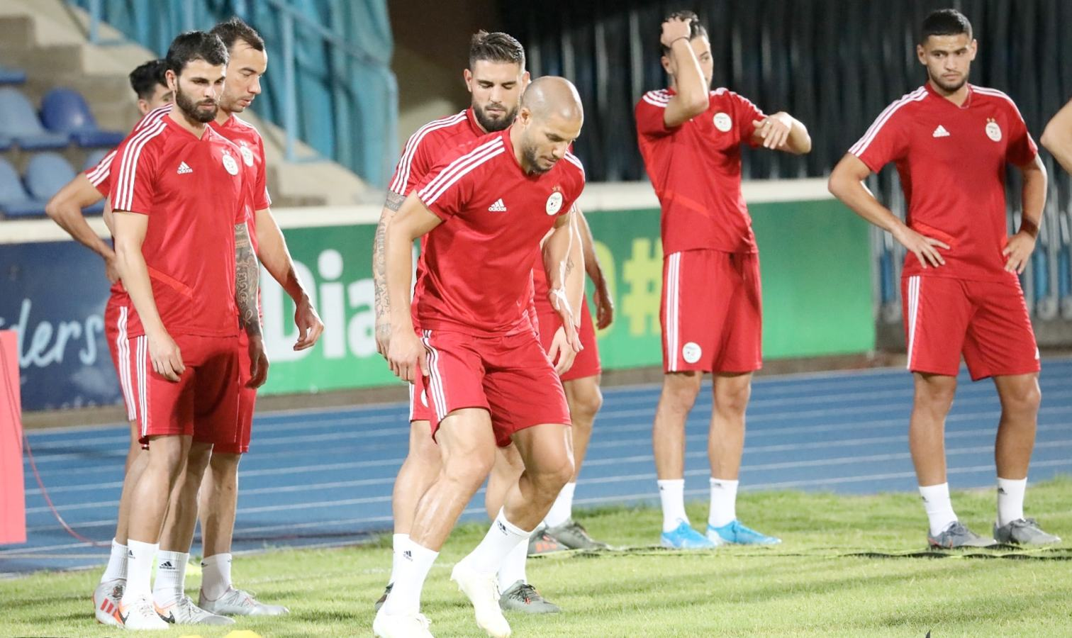 guedioura delort entrainement rouge gaborone