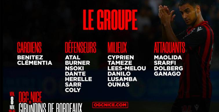 Nice : Ounas retenu pour Bordeaux