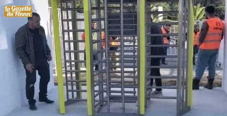 Stade 5 juillet : installation de portiques électroniques