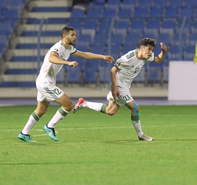 joie algerien buteur alg arabe cup U20