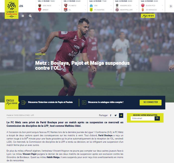 site ligue 1 1