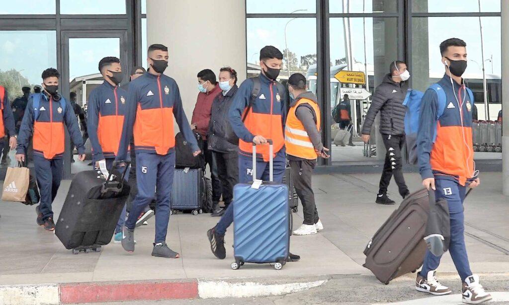 arrivee delegation libye U17 aeroport unaf