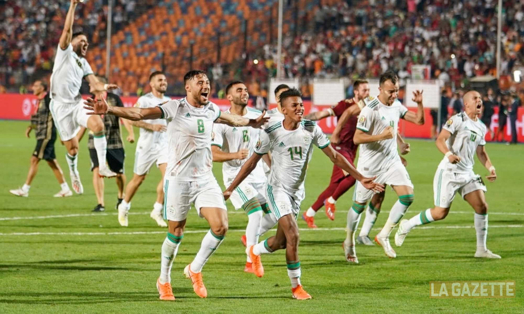celebration CAN 2019 belaili boudaoui benlamri feghouli sacre egypte