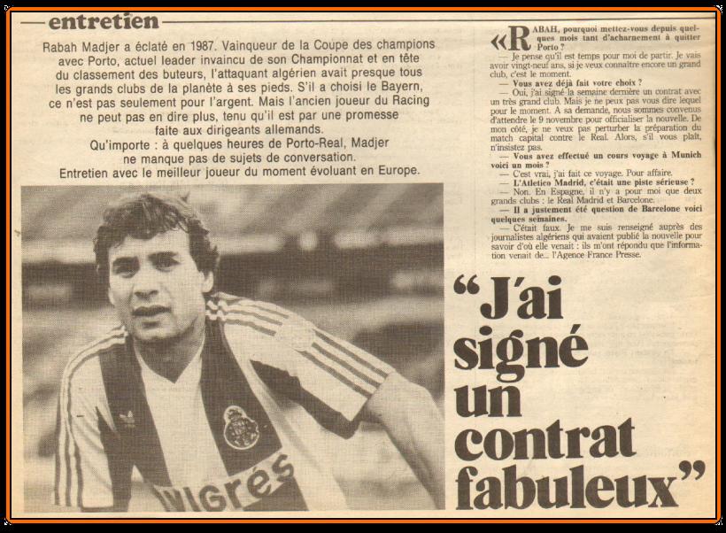 RabahMADJER BayerndeMunichcontrat1987 2