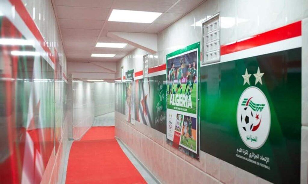couloir stade tchaker renovation habillage blida