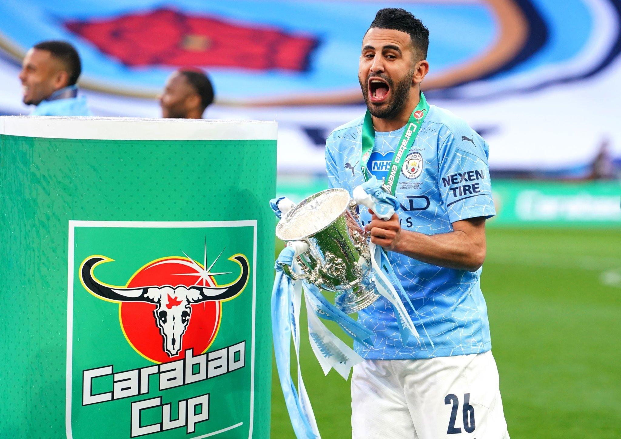 Mahrez joie EFL CUP