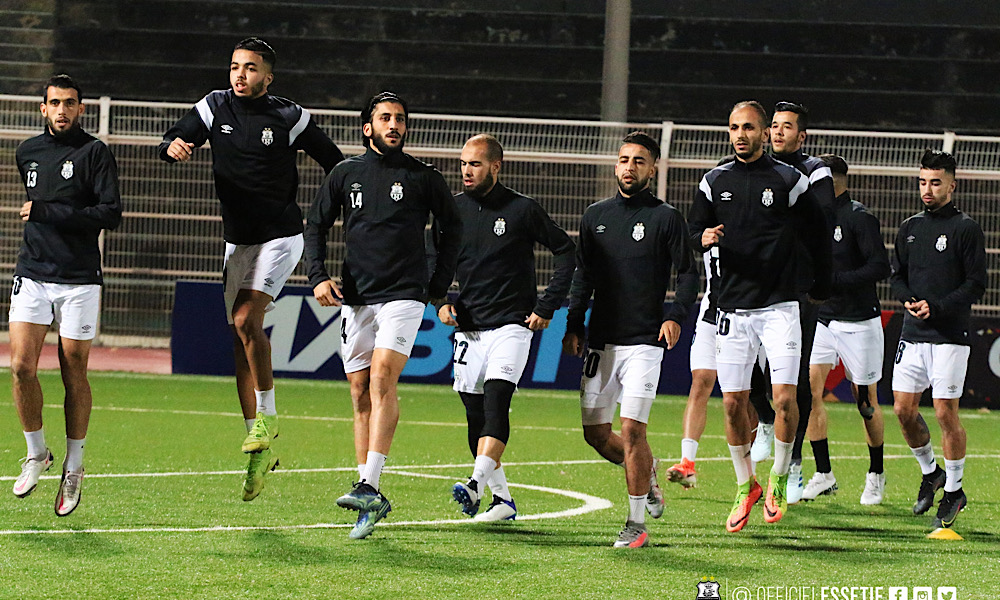 ES Sétif échauffement Al Ahli Benghazi CAF CC