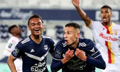 Mehdi Zerkane célébration Bordeaux RC Lens