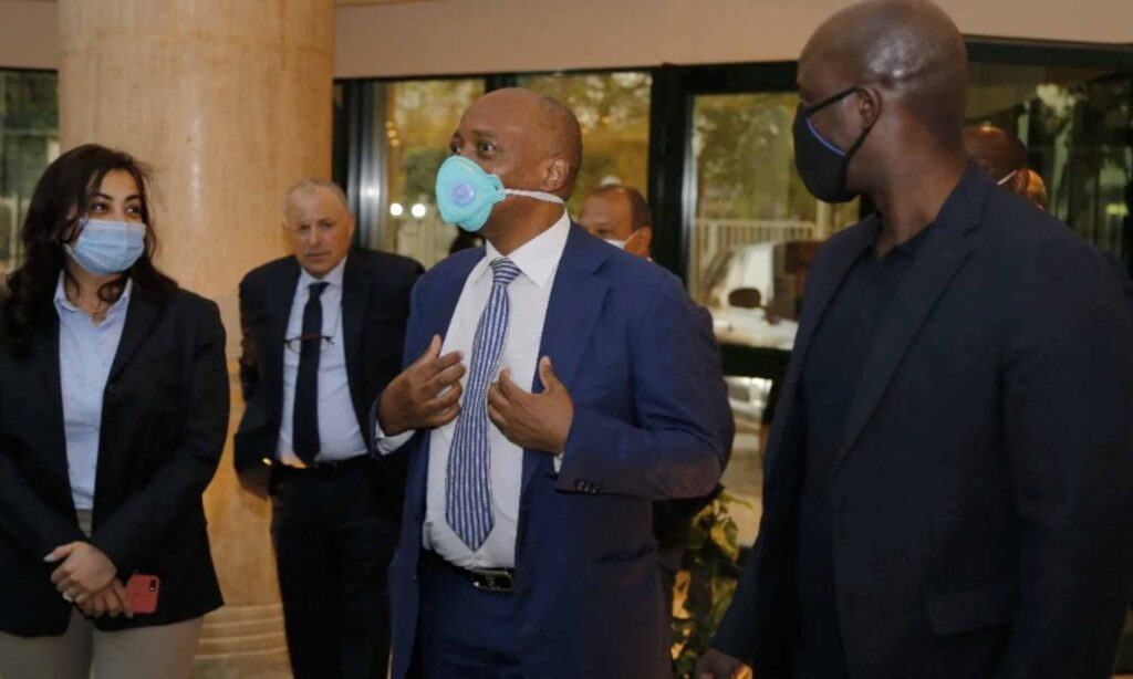 caf president patrice motsepe abou rida caire