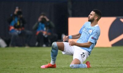 mahrez glissade joie celebration city