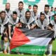 onze team ess setif palestine drapeau karaoui solidiratie