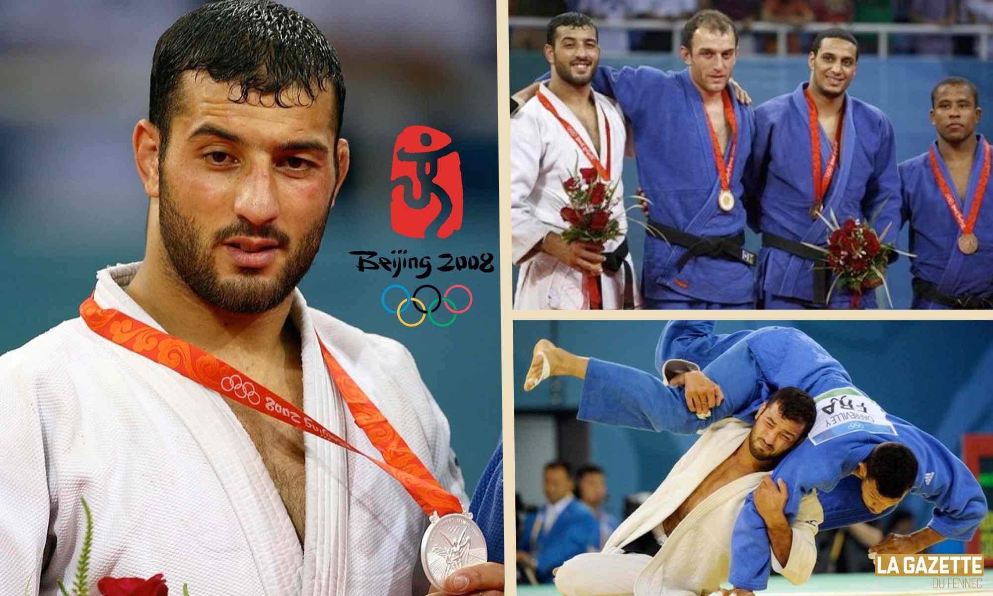 amar benikhlef jo 2008 pekin judo argent medaille