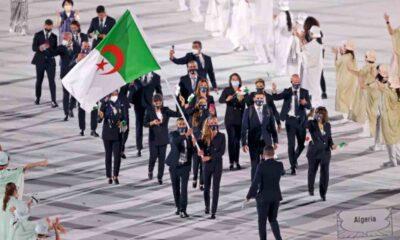 elegation algerien porte drapeau melih flissi jo tokyo 2020